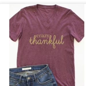 Pink Lily Crazy Thankful T-Shirt